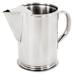 Water Pitcher With Gadroon Base, 64 oz, Stainless Steel