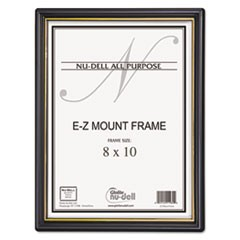 EZ Mount Document Frame/Accent, Plastic, 8 x 10, Black/Gold