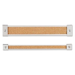 Map Rail, Heavy-Gauge Anodized Aluminum, Natural Cork Insert, 1 x 72