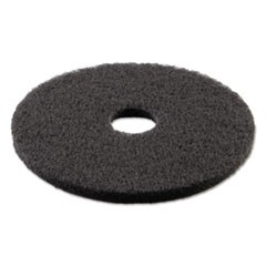 "Standard Stripping Floor Pads, 13"" Diameter, Black, 5/Carton"