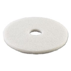 "Standard Polishing Floor Pads, 15"" Diameter, White, 5/Carton"