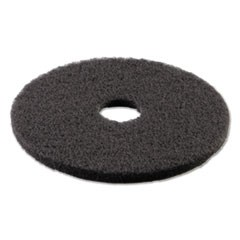 "Standard Stripping Floor Pads, 16"" Diameter, Black, 5/Carton"