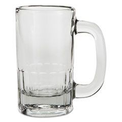 Classic Beer Mug, Glass, 12 oz, Clear, 24/Carton