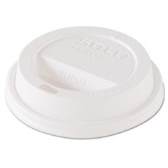 Traveler Dome Hot Cup Lid, Fits 8oz Cups, White, 100/Pack, 10 Packs/Carton