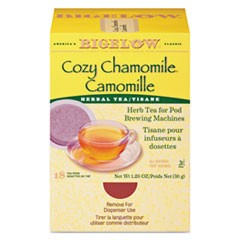 Cozy Chamomile Herbal Tea Pods, 1.90 oz, 18/Box