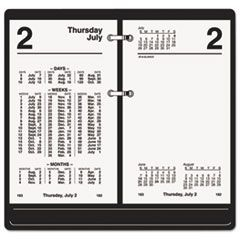Financial Desk Calendar Refill, 3 1/2 x 6, White, 2016