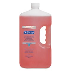 Antibacterial Liquid Hand Soap Refill, Crisp Clean, Pink, 1gal Bottle, 4/Carton