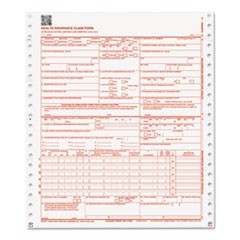 CMS 02/12 Insurance Claim Form, 1-Part Continuous White, 9 1/2 x 11, 2500 Forms