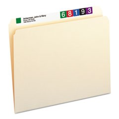 File Folders, Straight Cut, One-Ply Top Tab, Letter, Manila, 100/Box
