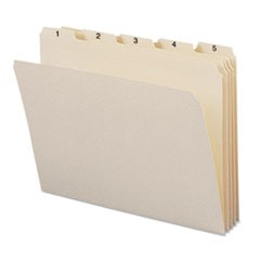 Indexed File Folders, 1/5 Cut, Indexed 1-31, Top Tab, Letter, Manila, 31/Set