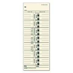 Time Card for Acroprint/IBM/Lathem/Simplex, Weekly, 3 1/2 x 9, 500/Box