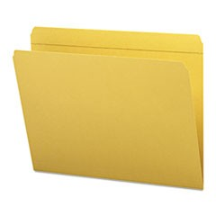 File Folders, Straight Cut, Reinforced Top Tab, Letter, Goldenrod, 100/Box