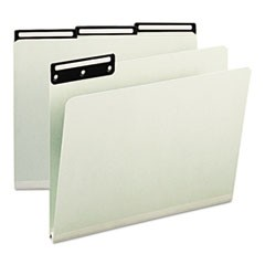 One Inch Expansion Metal Tab Folder, 1/3 Tab, Letter, Gray Green, 25/Box
