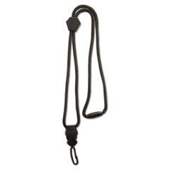 "Executive Braided Lanyard, Swivel J-Hook Style, 36"" Long, Black"