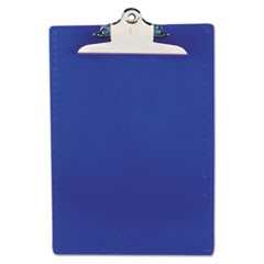 "Recycled Plastic Clipboards, 1"" Clip Cap, 8 1/2 x 12 Sheets, Blue"