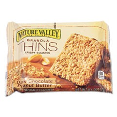 Dark Chocolate Peanut Butter Granola Thins, 0.6 oz, Individually Wrapped, 15/Box