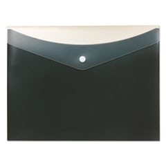 Poly Snap Envelope, 8 1/2 x 11, Charcoal