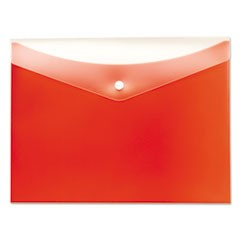 Poly Snap Envelope, 8 1/2 x 11, Tangerine