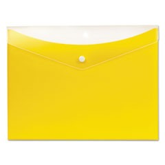 Poly Snap Envelope, 8 1/2 x 11, Lemon
