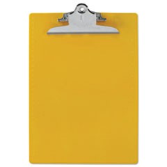 "Recycled Plastic Clipboards, 1"" Clip Cap, 8 1/2 x 12 Sheets, Yellow"