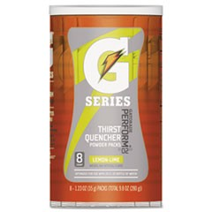Thirst Quencher Powder Drink Mix, Lemon-Lime, 1.34oz Stick, 8/Carton