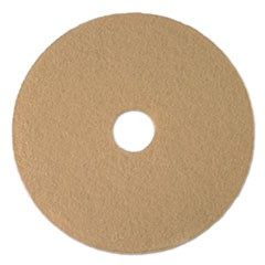 "Ultra High-Speed Low Burnish Floor Pads, 21"" Diameter, Tan, 5/Carton"