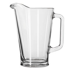 Glass Beer Pitcher, 37 oz/1 Liter, Clear, 6/Carton