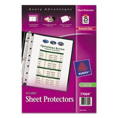 Top Load Sheet Protector, Heavyweight, 8 1/2 x 5 1/2, Clear, 25/Pack