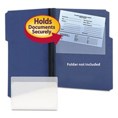 Self-Adhesive Poly Pockets, Top Load, 9 x 5-9/16, Clear, 100/Box