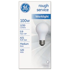 Rough Service Incandescent Worklight Bulb, A21, 100 W, 1230 lm