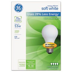 Energy-Efficient Soft White 53 Watt A19, 4/Pack