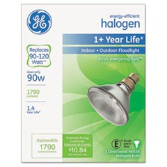Energy-Efficient Halogen Bulb, 90 Watts, Crisp White