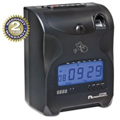 Biometric Fingerprint Time Clock, Black/Red Ink, 6 x 5 x 9
