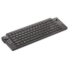 VersaPoint Rechargeable Wireless Media Keyboard, Black