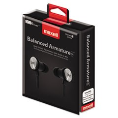 BA-1 Balanced Armature Earphones with In-line Mic, Black