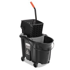 WaveBrake Side-Press Wringer/Bucket Combo, 35 Qt, Black