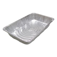 Ribbed Full Size Aluminum Steam Pans, 20 3/4 x 12 3/16 x 3 3/8, 40/Carton