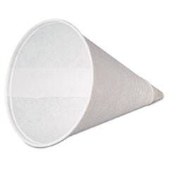 Paper Cone Cups, w/Rolled Rim, 4oz, White, 200/Pack, 25 Packs/Carton