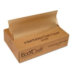 EcoCraft Interfolded Soy Wax Deli Sheets, 8 x 10 3/4, 500/Box, 12 Boxes/Carton