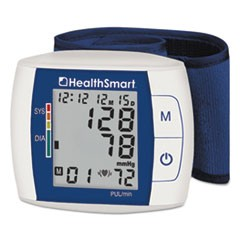 Premium Automatic Wrist Talking Digital Blood Pressure Monitor, White/Dark Blue