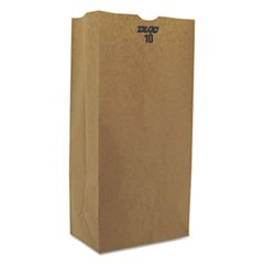#10 Paper Grocery, 57lb Kraft, Extra-Heavy-Duty 6 5/16x4 3/16 x13 3/8, 500 bags