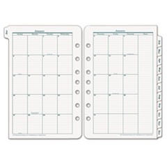 Original Dated Monthly Planner Refill, January-December, 5 1/2 x 8 1/2, 2017