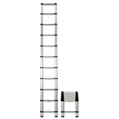Aluminum Telescopic Extension Ladder, 14 ft, 250lb