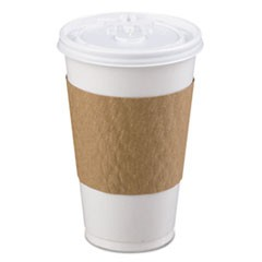 The Sleeve Hot Cup Sleeve for 10-20 oz Cups, Paperboard, Brown, 1200/Carton