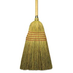 "Corn/Fiber Lobby Brooms, 53.5"", Natural, 6/Carton"