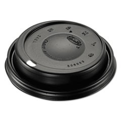 Cappuccino Dome Sipper Lids, Black, Plastic, 100/Pack, 10 Packs/Carton