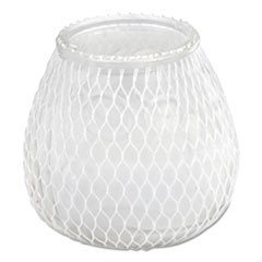 Euro-Venetian Filled Glass Candles, 60 Hour Burn, Frost White, 12/Carton