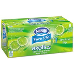 Pure Life Exotics Sparkling Water, Key Lime, 12 oz Can, 24/Carton