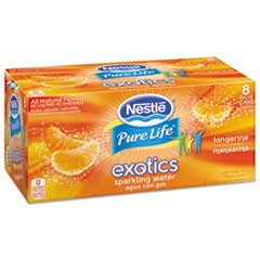Pure Life Exotics Sparkling Water, Tangerine, 12 oz Can, 24/Carton