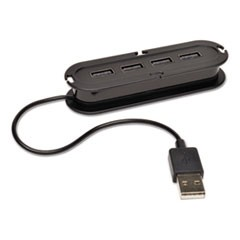U222-004-R 4-Port USB 2.0 Ultra-Mini Hub, Black